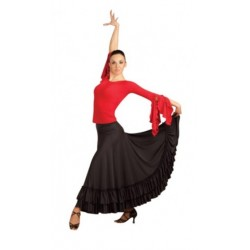 Jupe de flamenco à double volants