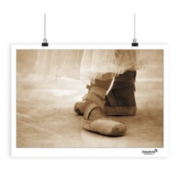 "Affiche ""Pointe Shoes Sepia"""
