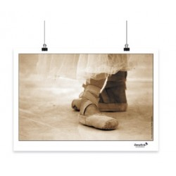 "Affiche A3 ""Pointe Shoes Sepia"""
