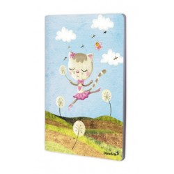 "Cahier A4 ""Dancing Cat On Meadow"""