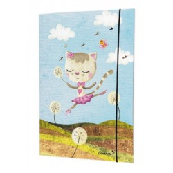 "Chemise A4 ""Dancing Cat On Meadow"""