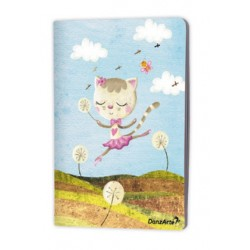 "Cahier A5 ""Dancing Cat On Meadow"""