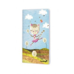 """Cahier A6 """"Dancing Cat On Meadow"""""""